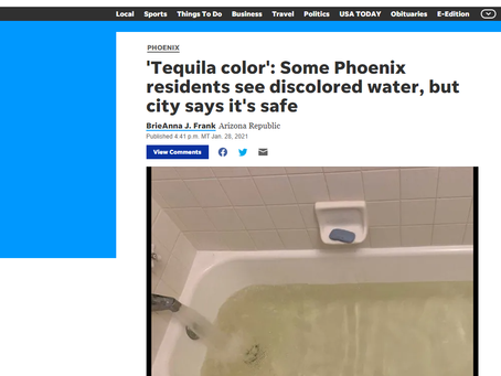 Tequila Colored water in phoenix?!?!