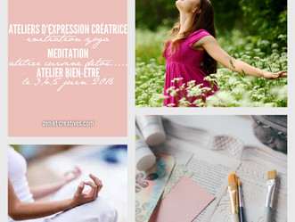 Retraite zen et créatives - le 3, 4 et 5 juin