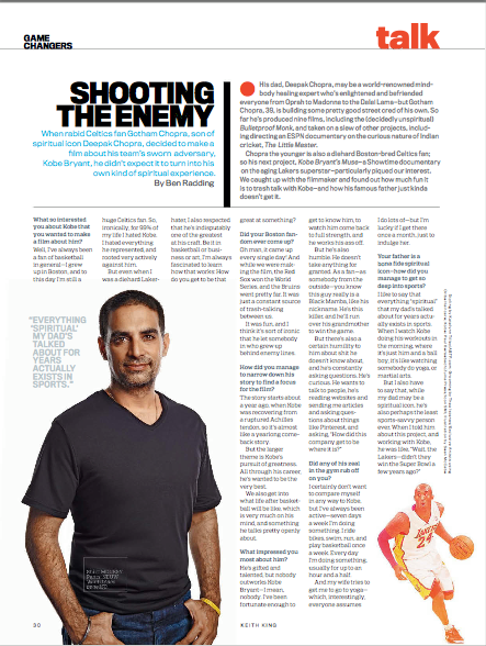 GOTHAM CHOPRA |MENS FITNESS MAGAZINE