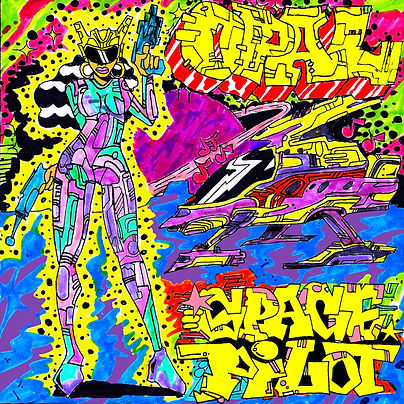 opal spacepilot art artbyopal posh god o