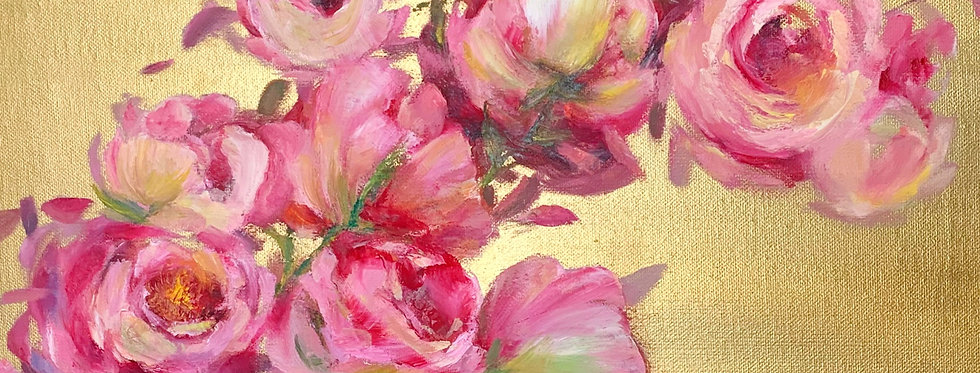 """Peonies on gold"""