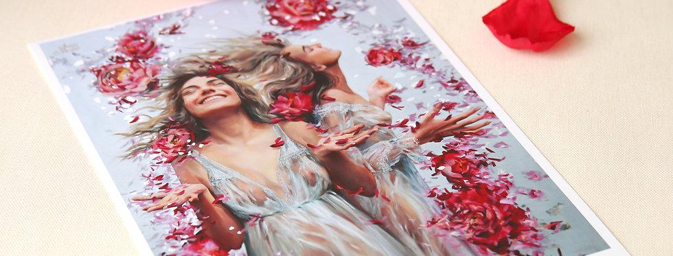 "FINE ART PRINT ""Blossom Rain"" 8.5x11in"