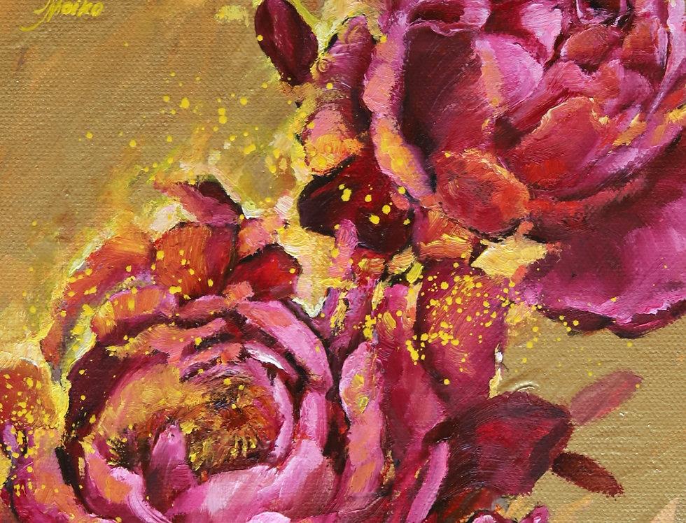 """""""Bright Peony"""" Original oil painting"""