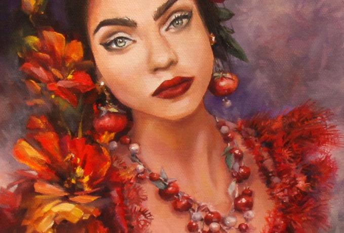 """""""Evgenia"""" Original Oil Painting"""