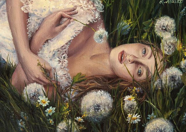 _In the dandelions_ oil on canvas.jpg