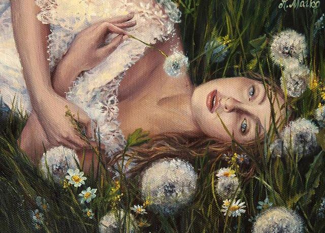 _In the dandelions_ oil on canvas.jpg
