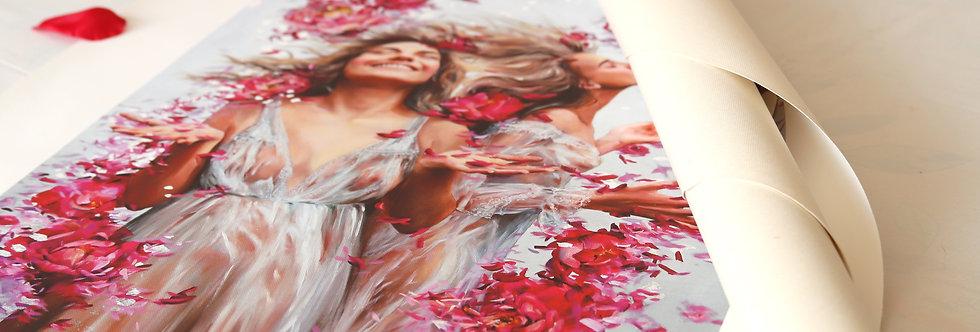 """Blossom Rain"" Limited Edition Print on Canvas"