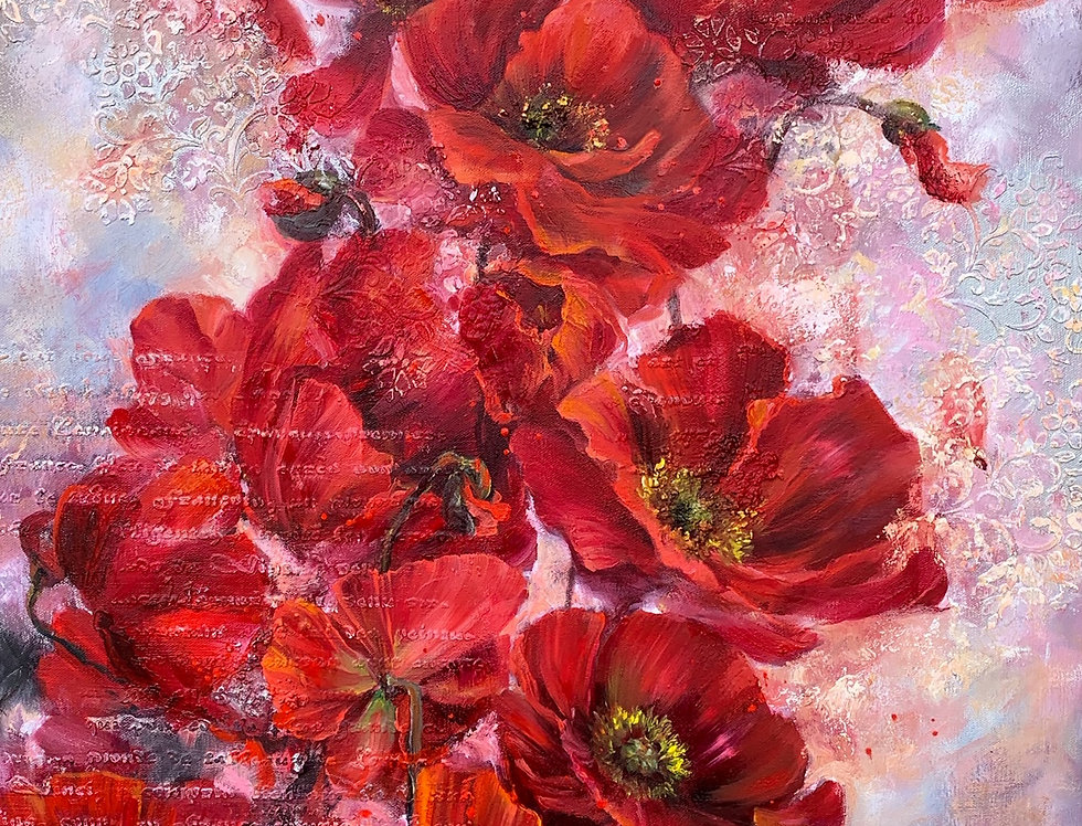 """Red Memorial Poppies"""
