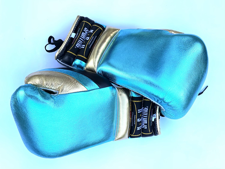 New Sporting Training Gloves - Metallic Turquoise