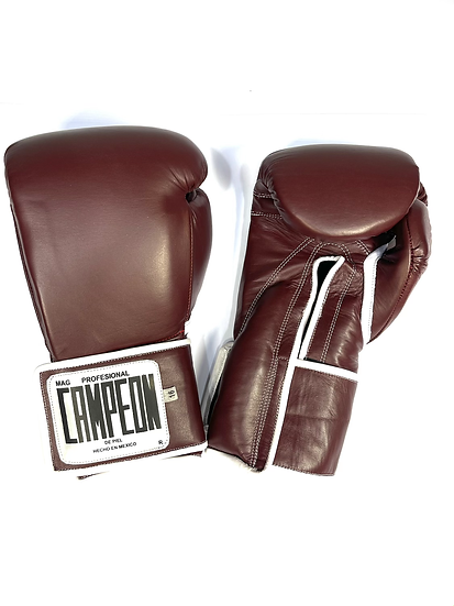 Campeon Training Gloves - Brown Bordeaux Velcro
