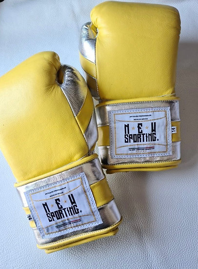 New Sporting Training Gloves - Yellow/ Silver