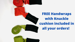 Free Handwraps with Knuckle cushion incl