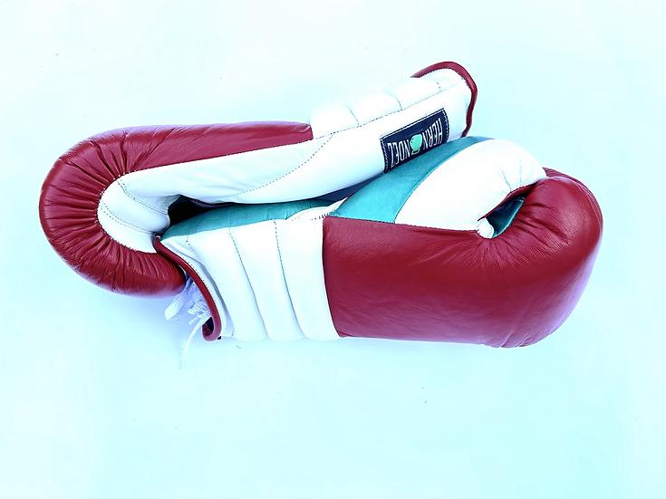 Hernandez Training Gloves - Red White Metallic Green