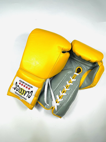 Classics Mexicombate Training Gloves - Yellow/ Gray