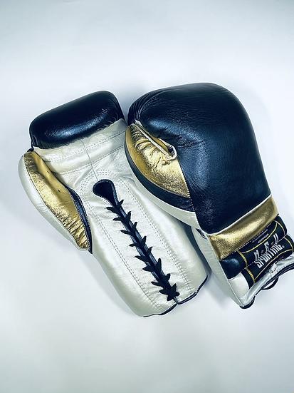 New Sporting Training Gloves - Metallic Blue Navy/ White Pearl/ Gold