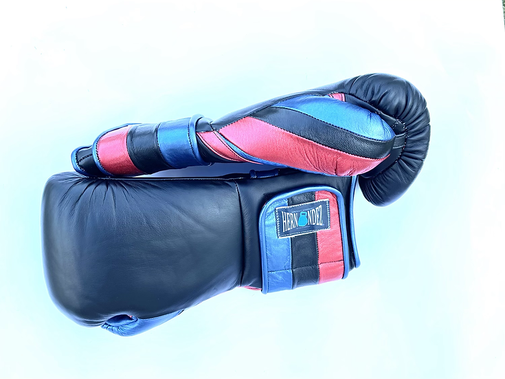 Hernandez Training Gloves - Black Metallic Blue Red