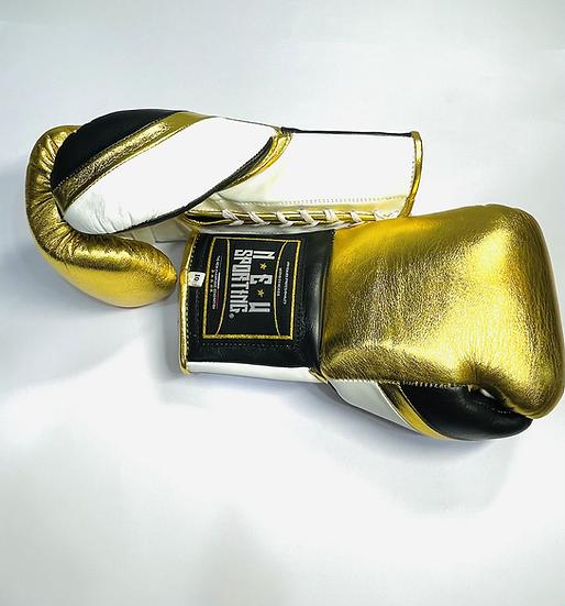 New Sporting Fight Gloves - Golden/ White/ Black