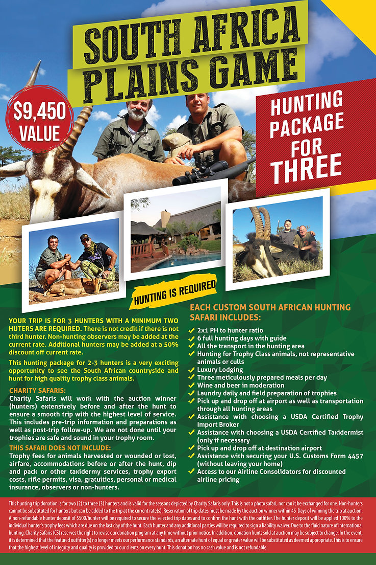 South Africa Hunt Auction Poster in JPG.