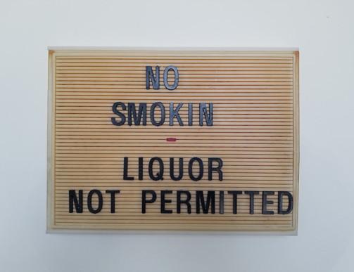 Rivoli Interior Sign - No Smoking
