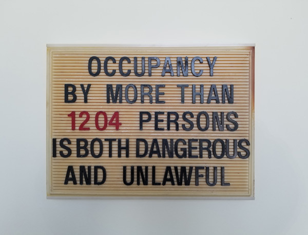 Rivoli Interior Sign - Occupancy