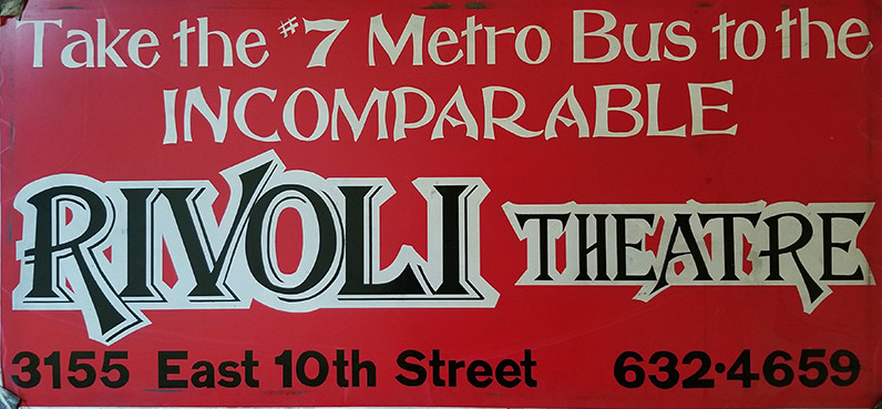 Red Rivoli Theatre Sign