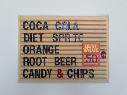 Rivoli Interior Sign - Beverages