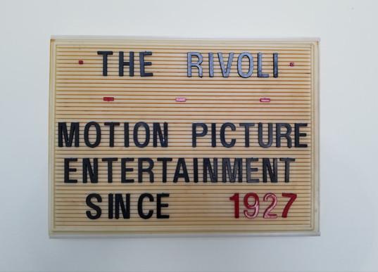 Rivoli Interior Sign - Introduction