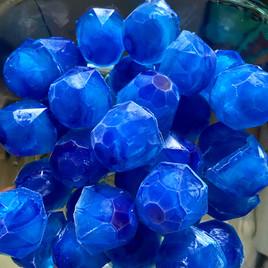 Glaçons bleus