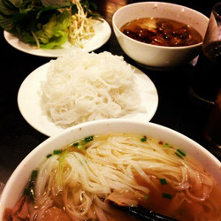 Pho + Bun Cha in Hanoi