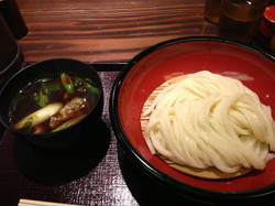 Dipping Udon in Kyoto