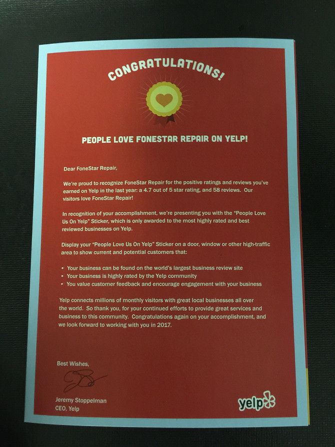 FoneStar Repair recognized for a SECOND year!