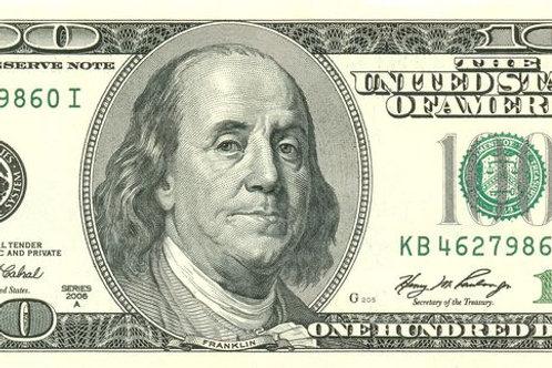 $100.00
