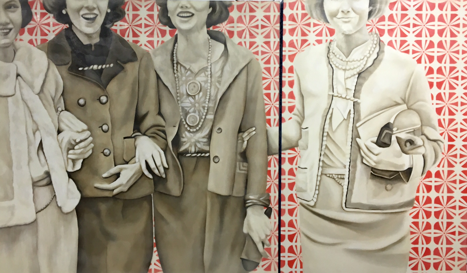Society Girls 36x60