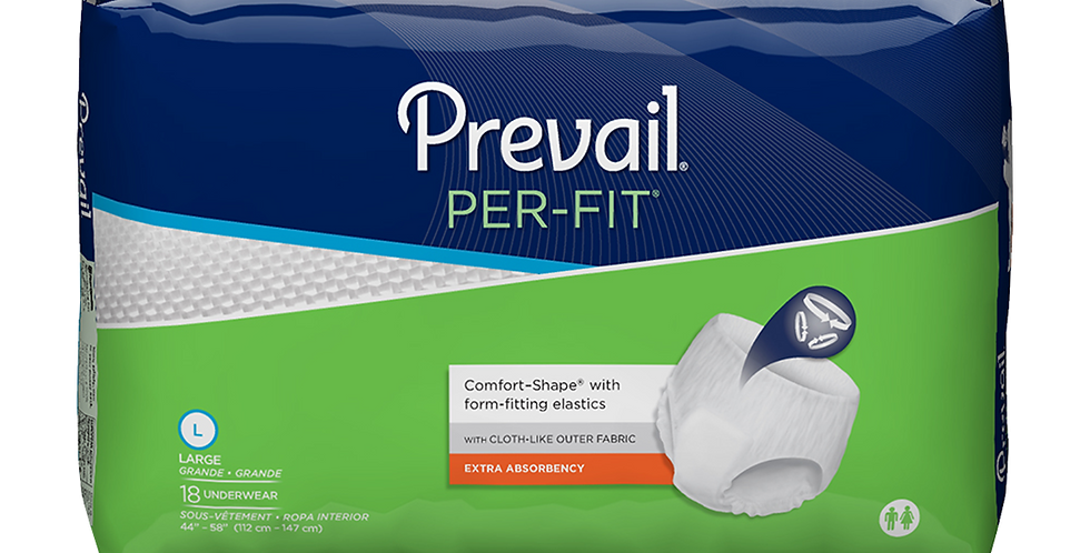 Prevail Per-Fit Underwear - Large 18/Pack