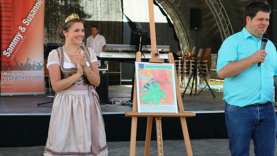 Bei Malwettbewerb Durbacher Weinberg toll in Szene gesetzt