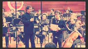 "Premiere ""Catarsis"" for orchestra"