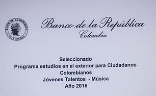 Sponsorship by the Banco de la Republica de Colombia