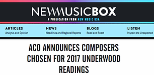 """""""From Infinity"""" selected by the American Composers Orchestra"""
