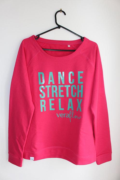Dance Stretch Relax Cozy Sweatshirt - Raspberry