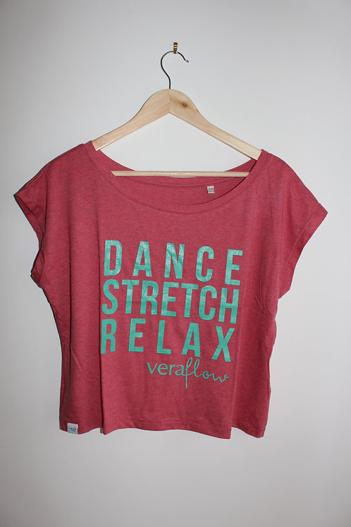 Dance Stretch Relax Cropped Boxy Tee