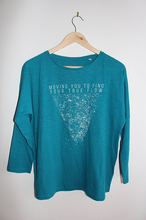 Moving You 3/4 sleeve Tee - Teal
