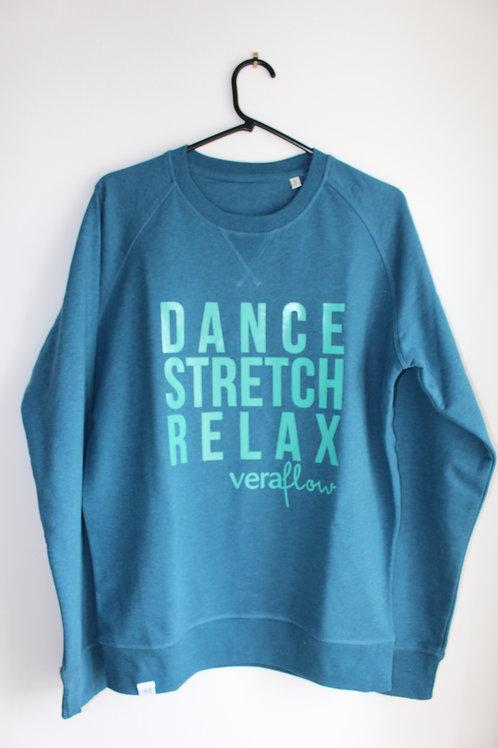 Dance Stretch Relax - Men's Organic Round Neck Raglan Sleeve Sweatshirt