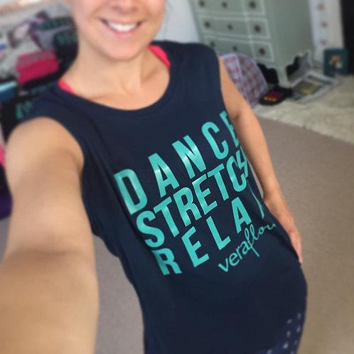 Women's Fluid Sleeveless Dance Stretch Relax Tee