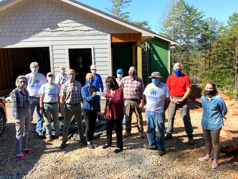 Habitat Rabun home build