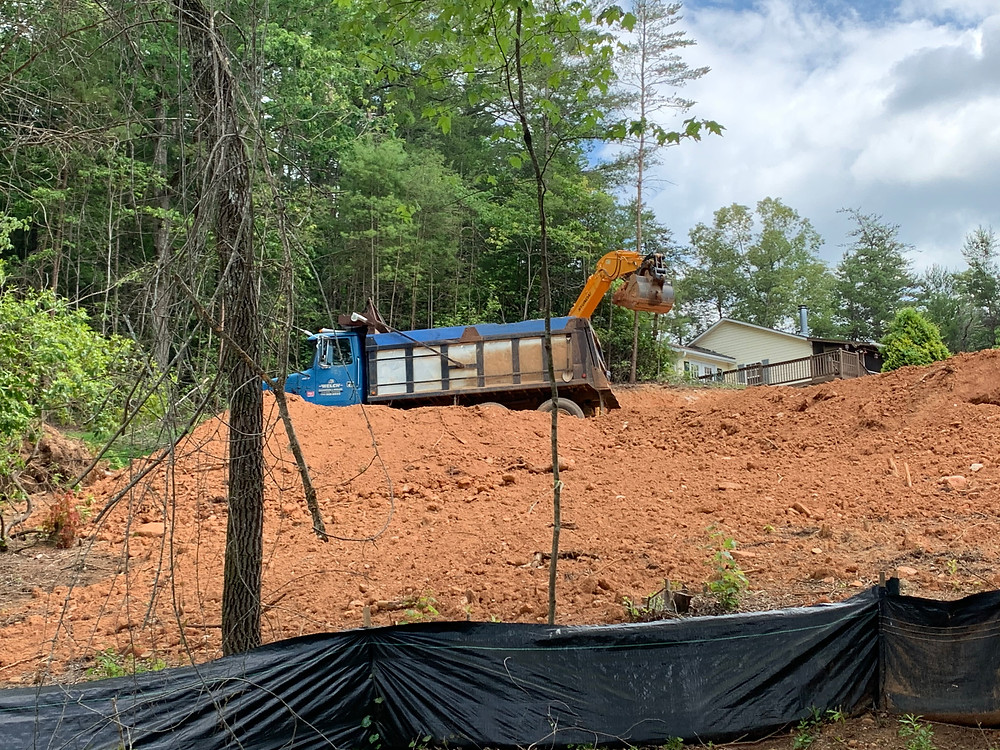 The septic tank has been put in this past month.