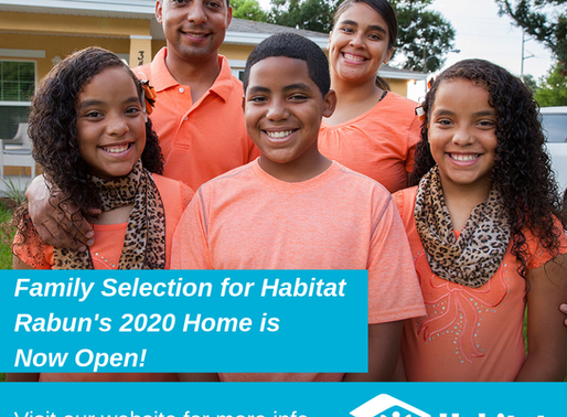 2020 Family Selection Applications Now Available