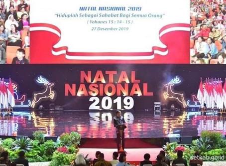 Perayaan Natal bersama Jokowi