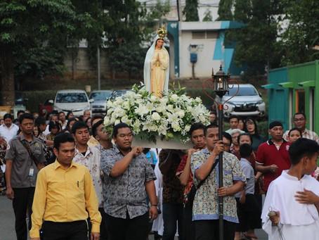 Pembukaan Bulan Rosario dan Perarakan Patung Bunda Maria
