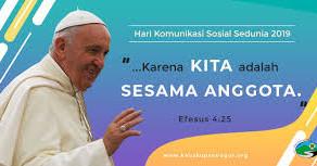 Pesan Paus Fransiskus Pada Hari Komunikasi Sedunia ke-53