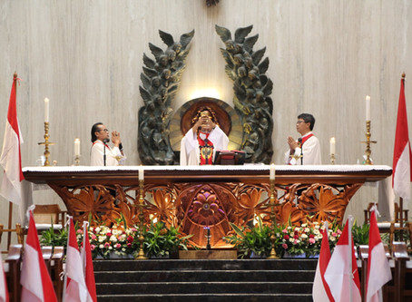 Misa Perayaan Dirgahayu RI ke-75